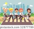 Vector illustration cartoon characters children 32877786