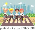 Vector illustration cartoon characters children 32877790