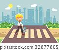 Vector illustration cartoon characters child 32877805