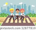 Vector illustration cartoon characters children 32877810