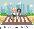 Vector illustration cartoon characters children 32877812