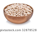 White soybeans isolated on white background 32878528