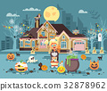 Vector illustration cartoon character child Trick 32878962
