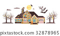 Vector illustration isolated cartoon house 32878965