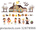 Vector illustration isolated children Trick-or 32878966