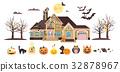 Vector illustration isolated cartoon house 32878967