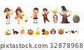 Vector illustration isolated cartoon children 32878968