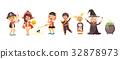Vector illustration isolated cartoon children 32878973