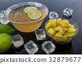 冰涼的檸檬愛玉與粉粿 32879677