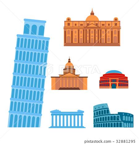 Euro trip tourism travel design famous building 32881295