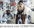 woman, exercise, gym 32886704