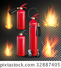 Red Fire Extinguisher Vector. Fire Flame Sign 32887405