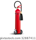 Fire Extinguisher Vector. Sign 3D Realistic Red 32887411