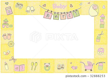 婴儿明信片粉红色 32888253