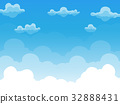 Group of clouds on blue sky vector 32888431