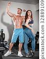 健身房 运动 训练 32889109