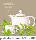 stevia tea illustration 32889309