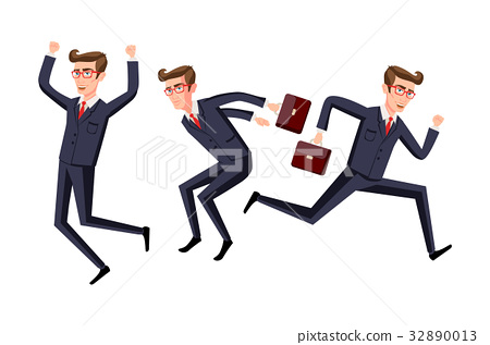 business people jumping celebrating success vector 32890013