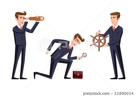set vector Search Business man cartoon  32890014