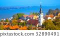 Panoramic of Zemun, with church tower in Belgrade 32890491