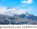 travel ski background with slopes, snow mountain 32890559