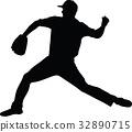 baseball pitcher 32890715