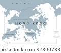 Hong Kong political map 32890788
