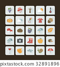 Autumn color icon set on a dark background 32891896