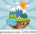 summer camp vector background 32892888