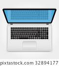 laptop, top, view 32894177