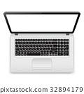 laptop, top, view 32894179