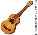 Acoustic guitar 32895498