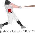 baseball player, detailed illustration 32896073