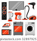 Set of home appliances. Household items for sale 32897925