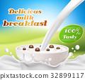 milk, vector, splash 32899117