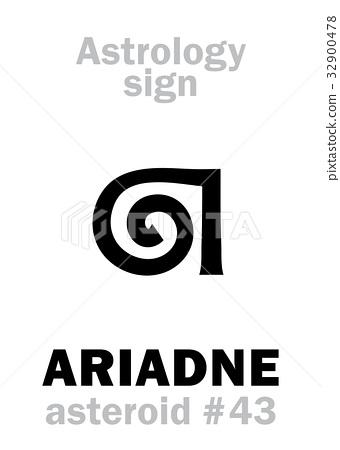 Astrology: asteroid ARIADNE - Stock Illustration [32900478
