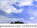 Sunlight and White clouds with blue sky background 32902448