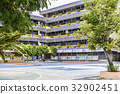 Trees in school and basketball in Bangkok 32902451