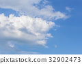 White clouds and blue sky 32902473