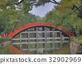 the Red sacred bridge Sumiyoshi Taisha Shrine 32902969