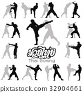 Muay Thai martial art vector illustration  32904661