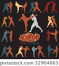Muay Thai martial art vector illustration  32904663
