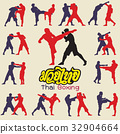 Muay Thai martial art vector illustration  32904664