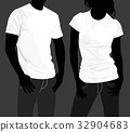 Body silhouette men and women. template  32904683