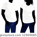 Body silhouette men and women. template  32904685