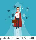 A superhero businessman with a briefcase 32907080