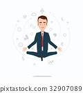 vector, businessman, pose 32907089