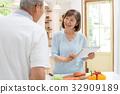 수석 부부 부엌 요리 라이프 스타일 커플 이미지 32909189