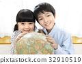 공부, 미소, 어린이 32910519