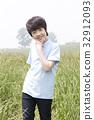 미소, 어린이, 즐거움 32912093